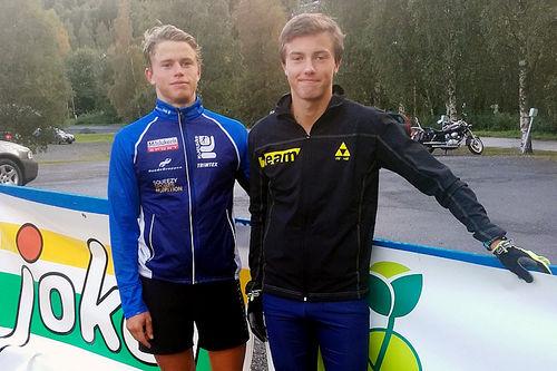 Håvard (t.h.) og Erling Moseby vant sine klasser i Tour de Synnfjell. Bildet er fra forrige sesongs utgave av konkurransen. Arrangørfoto.
