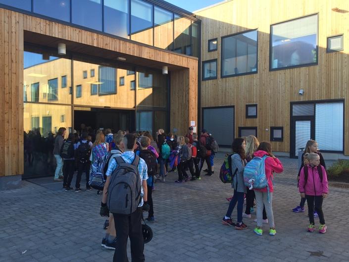 Vestmyra nye skole første skoledag