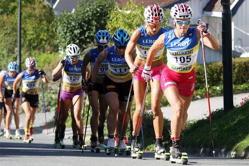 Selv om rulleski er noe av den mest skispesifikke barmarkstreningen for langrennsløpere, er det likevel ikke helt identisk. Foto: Geir Nilsen/Langrenn.com.