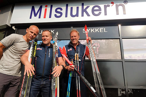 Aslak Berglund (f.v.), Roar Thorrud og Julius Solheim er klare for Milsluker