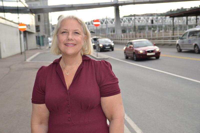 Gunn Iren Müller i trafikken