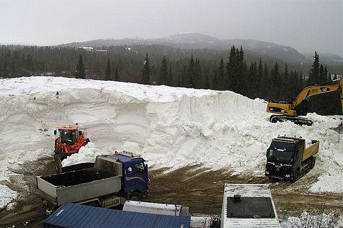 Snøhaugen på Beitostølen 1. november 2016. Skjermdump fra webkamera.