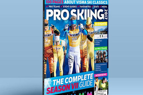 Forsiden til magasinet Pro Skiing 2017, offisiell guide for Visma Ski Classics.