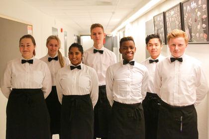 Elever fra Rosenvilde Kokk og servitør