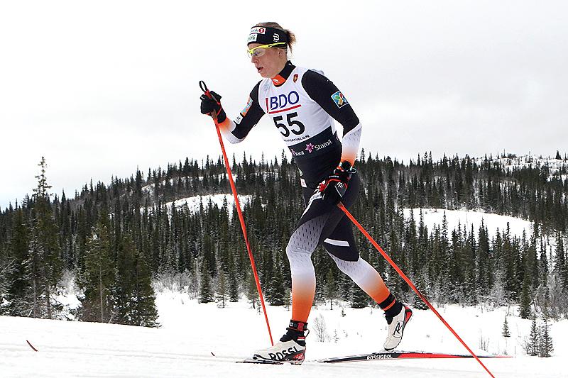 Astrid Uhrenholdt Jacobsen underveis på 10 kilometer klassisk i Beitosprinten 2016. Det endte med 3. plass. Foto: Erik Borg.