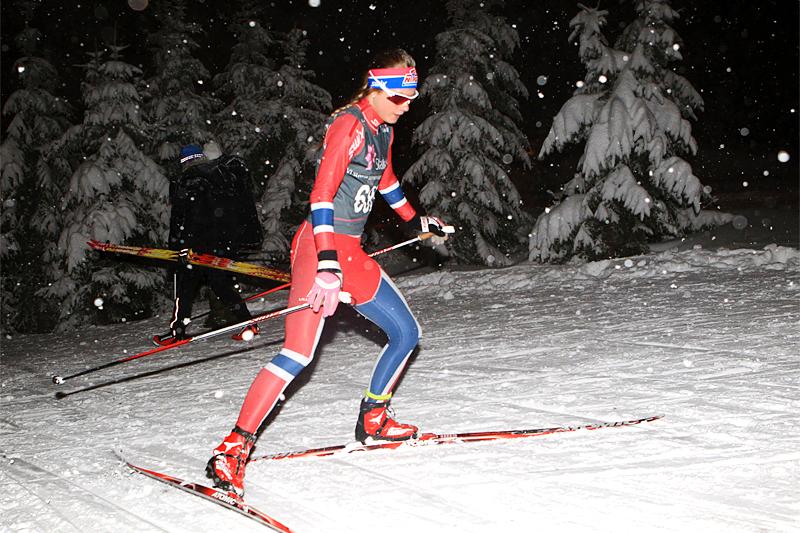 Lisa Kvamme har blitt tvunget til mye alternativ trening, noe som har gjort henne til en enda bedre skiløper. Foto: Erik Borg.