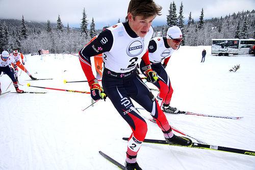 Johannes Høsflot Klæbo satte sprinteliten på plass da han gikk til topps i skøytesprinten under sesongåpningen på Beitostølen 2016. Foto: Geir Nilsen/Langrenn.com.