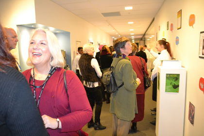 Jubileumsprat i korridor FUG 40