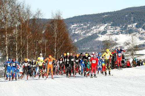 Fra en tidligere utgave av Søre Ål-runden. Arrangørfoto.