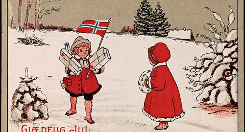 Glædelig Jul, ca 1919 (Nasjonalbiblioteket)