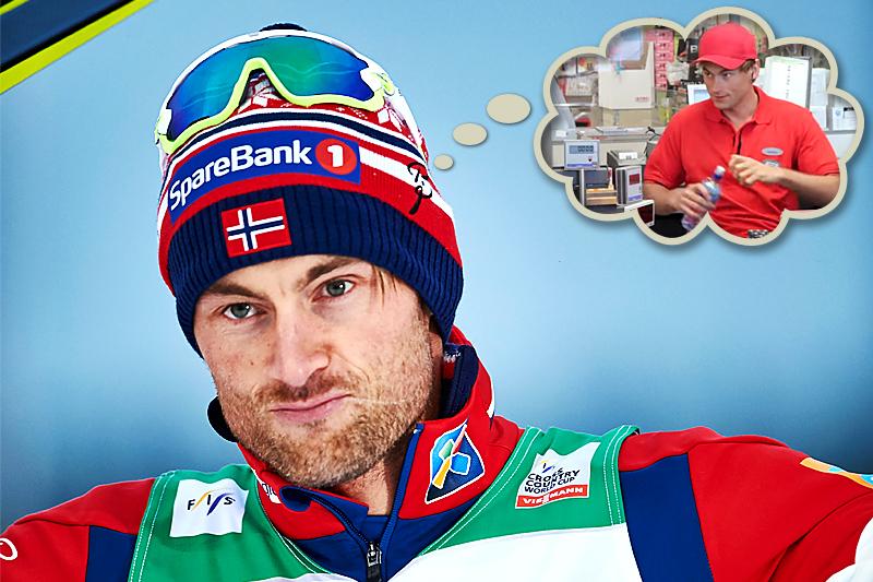 Petter Northug har vært i verdenstoppen i skisporet i 10 år allerede, men også andre ting enn kun trening og konkurranser har han syslet med underveis. Foto: Felgenhauer/NordicFocus (stort bilde) og Coop (innfelt). Fotomontasje: Langrenn.com.