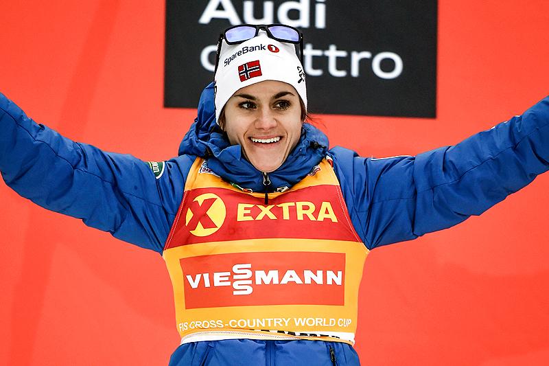 Heidi Weng leder minitouren på Lillehammer 2016 etter to etapper. Fredagens sprint endte med seier, og lørdag ble det 2. plass på 5 kilometer fri teknikk. Foto: Thibaut/NordicFocus.