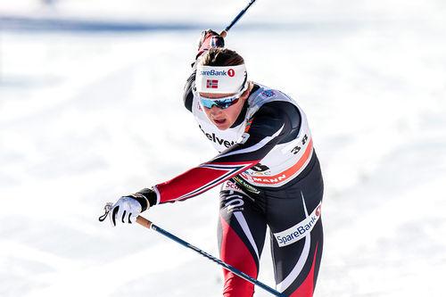 Ingvild Flugstad Østberg inn til seier på 15 km i Davos 2016. Foto: Modica/NordicFocus.