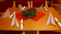 Bordet er dekket