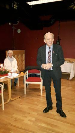 Ordfører Olav Hafstad holdt en fin hilsningstale