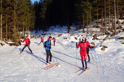 I romjula 2016 er det 20 km preparerte skiløyper på Vestskauen i Sande i Vestfold. Foto: Tom Helgesen.