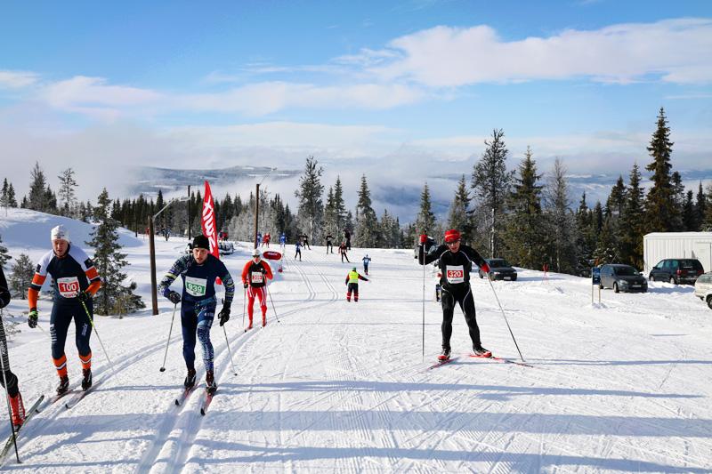 Hafjell Ski Marathon. Arrangørfoto.