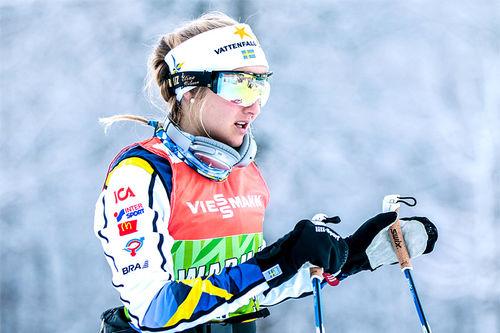 Stina Nilsson i Tour de Ski 2016-2017. Foto: Modica/NordicFocus.