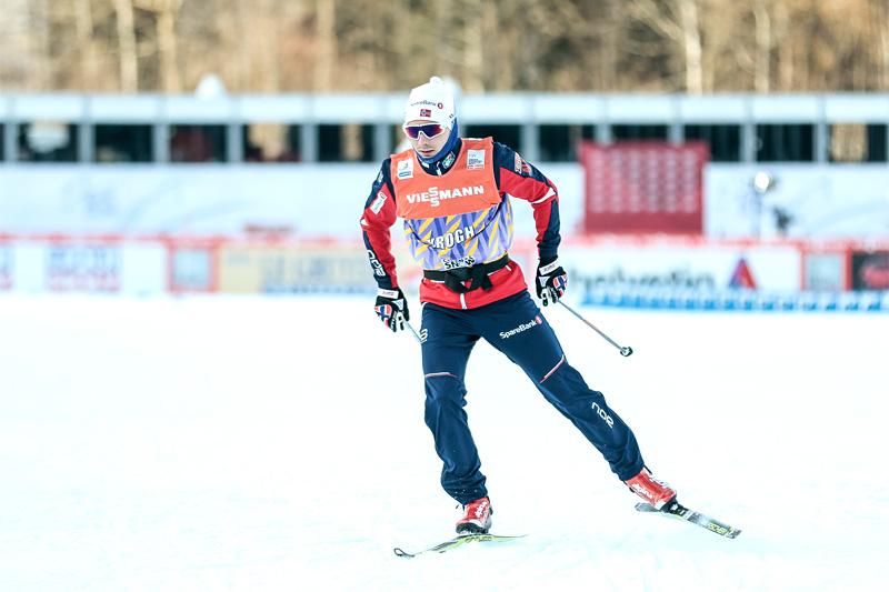 Finn Hågen Krogh ute på rolig trening under Tour de Ski. Foto: Modica/NordicFocus.