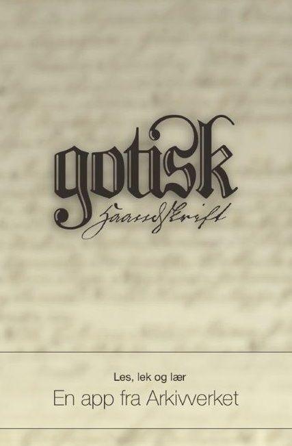 Gotisk skrift app fra Arkivverket