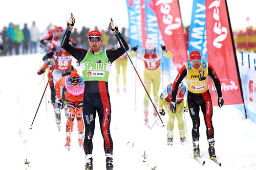 Andreas Nygaard i mål som vinner av Kaiser Maximilian Lauf 2017. Foto: Rauschendorfer/NordicFocus.