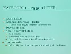 Kategori 1: Lite utsalg i liten kommune