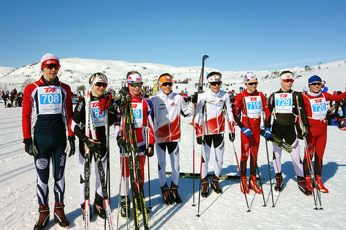 Ultimate Ski Team i Haukelirennet 2016. Foto: Ultimate privat.