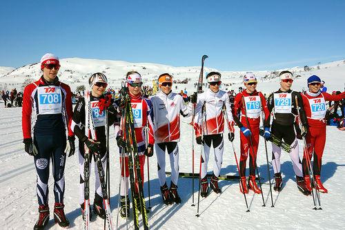 Ultimate Ski Team i Haukelirennet 2016. Foto: Ultimate privat.