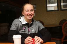 Martine Engebretsen på plass under Junior-VM 2017 i Park City og USA. Foto: Erik Borg.