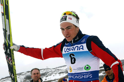 Thomas Helland Larsen vant sølv på skiathlon under Junior-VM i Park City 2017. Foto: Erik Borg.