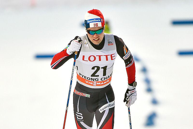Daniel Stock, her under Prøve-OL i Pyeongchang 2017, er en av toppløperne som forteller om sitt treningsarbeid i denne artikkelen. Foto: Thibaut/NordicFocus.