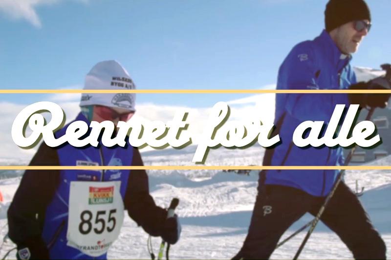 Skjemdump fra filmen til Hafjell Ski Marathon 2017.
