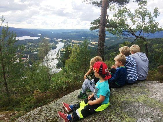 Barn på toppen av Fennefossfjellet