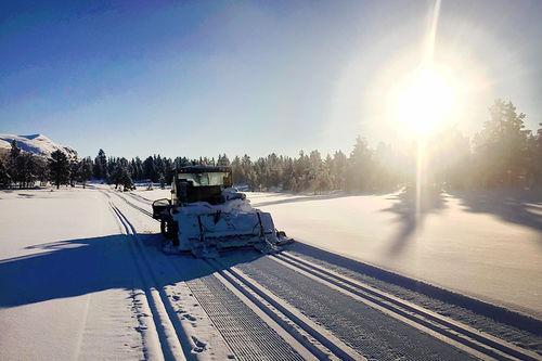 Vakker vinterdag i Kvamsfjellet, nå noen få dager i forkant av Furusjøen Rundt-rennet 2017. Foto: Rondane - Kvamsfjellet Turløypelag.