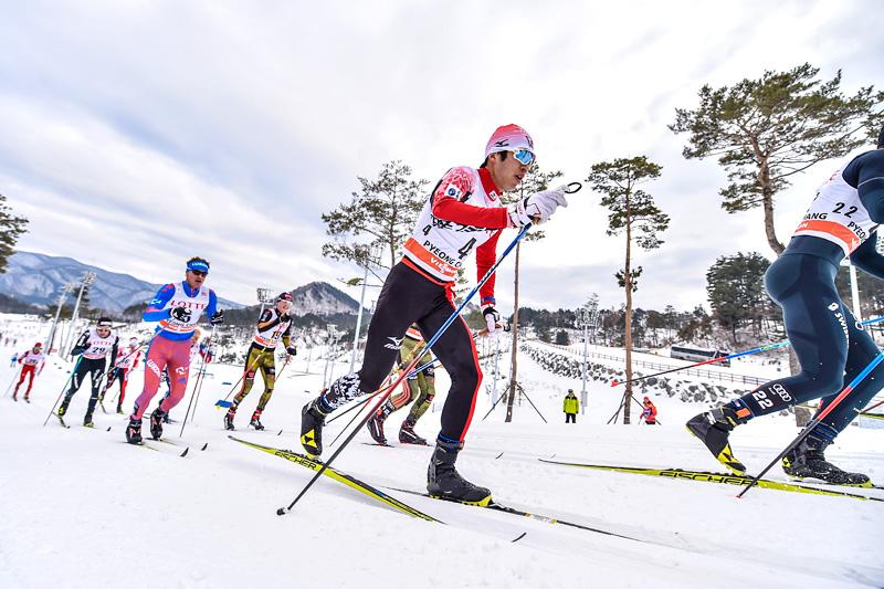 Fra Prøve-OL og verdenscuprunden i Pyeongchang 2017. Foto: Thibaut/NordicFocus.