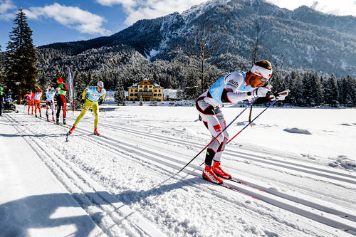 Fra det innbydende langløpet Cortina - Toblach i Nord-Italia, et renn som inngår i langløpscupen Ski Classics. Foto: Bragotto/NordicFocus.