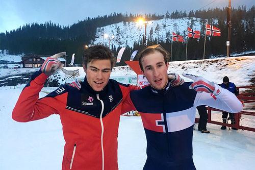 NTG Geilo hadde mye å juble over i forbindelse med norgescuphelgen og NM Sprint for juniorer på Voss nå i februar 2017. Mobilfoto: Privat.