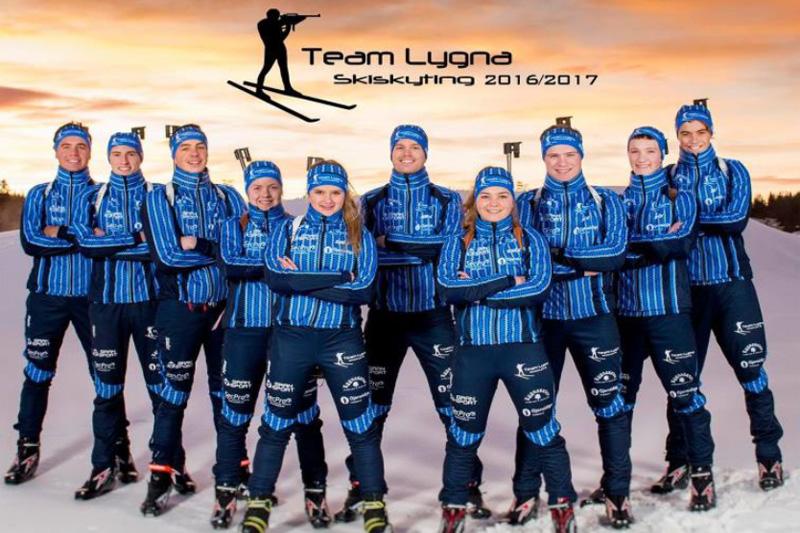 Team Lygna Skiskyting. Teamfoto.