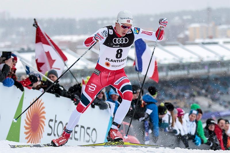 Finn Hågen Krogh i Lahti-VM 2017. Foto: Modica/NordicFocus.