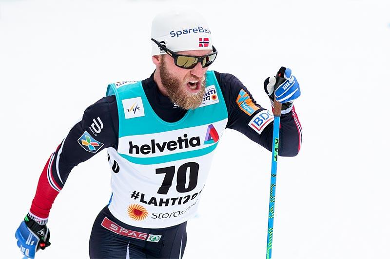 Martin Johnsrud Sundby på vei mot VM-sølv på 15 km klassisk under mesterskapet i Lahti 2017. Foto: Modica/NordicFocus.