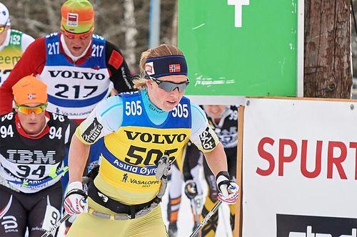 Astrid Øyre Slind på stø kurs mot 2. plass i Vasaloppet 2017. Foto: Rauschendorfer/NordicFocus.