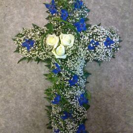 Kors hvitt og blått