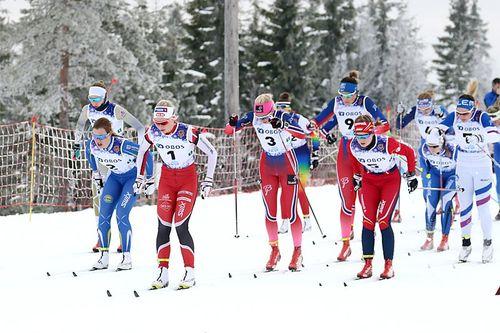 En utfordring er at mange ferske skigymnaselever blir for ivrige og prøver å henge seg på tredjeklassinger og nye treningskompiser, forteller Bjørn Burås. Bildet er fra Junior-NM på Gåsbu en tidligere vinter. Foto: Erik Borg.