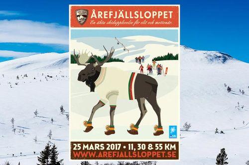 Plakat for Årefjällsloppet 2017.