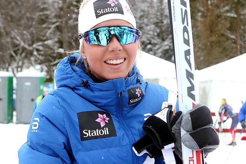 Marte Mæhlum Johansen ble norgesmester i eldste dameklasse på 5 kilometer klassisk under Junior-NM i Harstad 2017. Foto: Erik Borg.