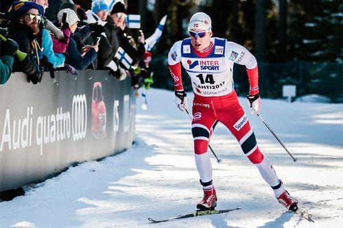 Anders Gløersen i Lahti-VM 2017. Foto: Modica/NordicFocus.