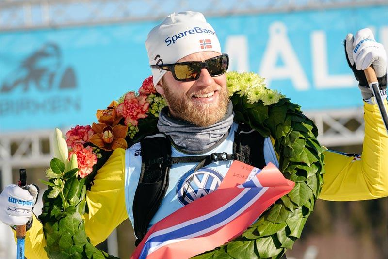 Martin Johnsrud Sundby var suveren i Birkebeinerrennet 2017. Foto: Magnus Östh/Visma Ski Classics.