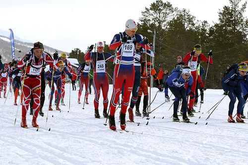 Tetgruppa under en tidligere utgave av Reistadløpet. Foto: Ivar Løvland.