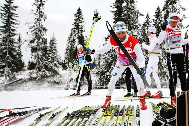 Testing av ski. Foto: Laiho/NordicFocus.