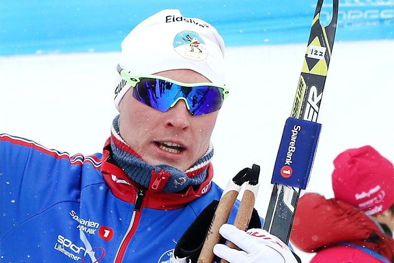 Vegard Bjerkreim Nilsen sikret sammen med Håvard Solås Taugbøl en blank sølvmedalje til Lillehammer SK da lagsprinten i NM 2017 ble gjennomført på Gålå. Foto: Erik Borg.